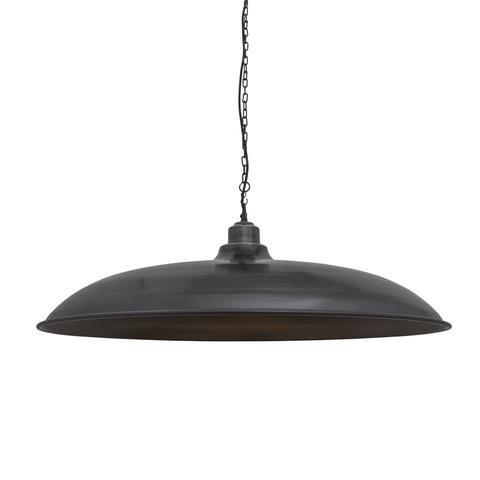 Brooklyn Vintage Giant Bowl Metal Lamp Shade Dark Grey Pewter 24